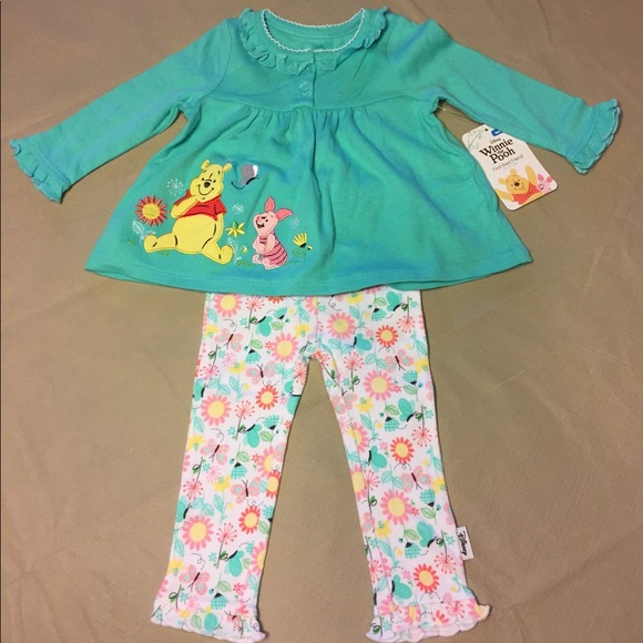 DISNEY STORE WINNIE THE POOH KNIT DRESS WITH LEGGINGS FOR BABY NWT POOH /& PIGLET